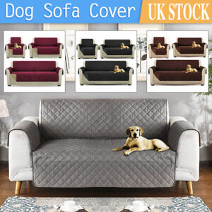 Quilted Sofa Cover Furniture Protector Throw Waterproof Sofa Slip Covers 3 Sizes