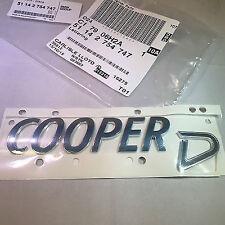 MINI Genuine REAR avvio Badge Emblema Cooper D 51142754747 Lloyd