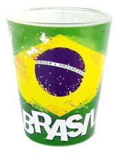 New souvenir Shot Glass Brazil Brazilian flag Federative Republic of Brazil