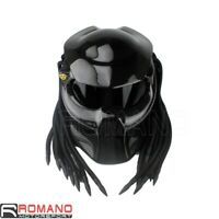 Predator Bike Helmet Mask Carbon Fibre Motorcycle Iron Man Full Face Helmet NEW
