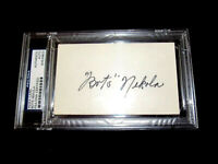 BOTS NEKOLA 1929 NY YANKEES PITCHER SIGNED AUTO INDEX CARD PSA/DNA AUTHENTIC