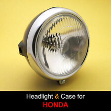 Honda SL100 SL125 XL100 XL125 XL175 CT125 Headlight + Rim + Black Case Bucket