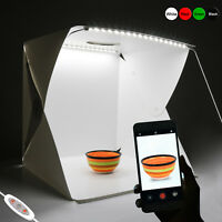 Portable Photo Studio Photography Light Box Lighting Room Kit Backdrop Mini Cube