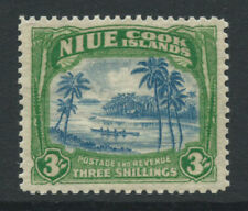 More details for niue 1938 sg77 3/- blue & yellow-green - unmounted mint. catalogue £35