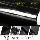 "Carbon Fiber Vinyl Film Car Interior Wrap Stickers Auto Parts Accessories 12x60"""