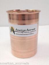 Pure Copper Cup 8 Oz Tumbler Glass Mug Holistic Health Yoga American Ayurveda