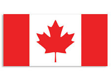 3x6 inch Flag of Canada Sticker - maple leaf canadian ontario quebec toronto bc