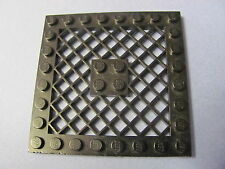 LEGO 4151 @@ Plate, Modified 8 x 8 with Grille  (x1) @@ BLACK  @@ NOIR
