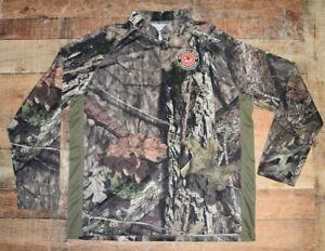 MOSSY OAK ELITE NRA National Rifle Association Men 1/4 Zip Pullover Jacket XL B5