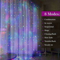 300 LED 3M*3M Fairy String Lights Indoor Outdoor Curtain Window Wedding Decor