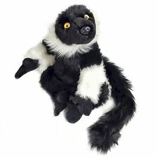 20cm Black Lemur Soft Cuddly Toy By Dowman - Plush Teddy Gift Idea