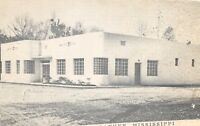 D91/ Picayune Mississippi Postcard 1952 Walker's Cafe Roadside