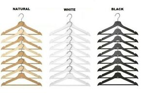 Wooden Clothes Hangers New Wood Natural ,White,Black Brand new