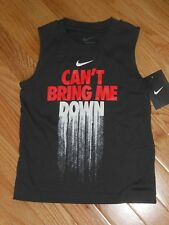 "NWT - Nike ""Can't Bring me down"" dark grey sleeveless shirt - 4 boys"