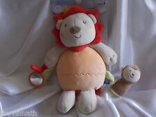 Doudou d'activités lion et son petit singe, Sucre d'Orge