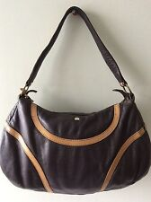 BILLY BAG real leather two tone brown underarm shoulder bag