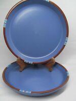"Dansk Mesa Sky Blue 10 1/2"" Dinner Plates Set Of 2 Plates KW Portugal"