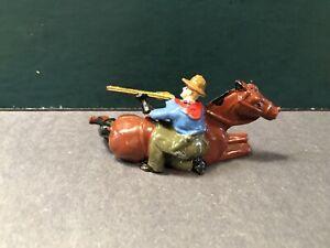 Johillco: A Fine Cowboy Dismounted. 54mm Metal Figure. Post War, c1950s