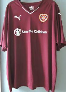 Hearts HM FC Heart of Midlothian 2015-2016 Football Club Home Shirt Size 3XL