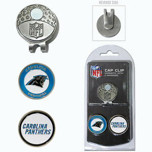 Carolina Panthers NFL Team Golf Cap Clip with 2 Magnetic Enamel Ball Markers