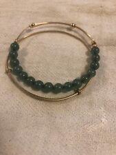 ALEX AND ANI vintage rare expandable bracelets with semiprecious jade gems