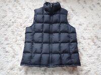 EDDIE BAUER Quilted Goose Down Puffy Vest Women's Size Medium Black