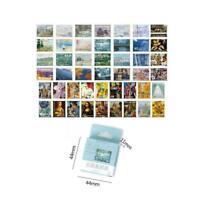 45Pcs/Set Washi Paper Stickers Travel Floral Scrapbooking X6U1 Masking L8F4