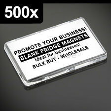 500x Premium Quality Clear Acrylic Blank Fridge Magnets 70 x 45 mm   Large Photo
