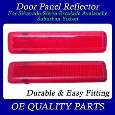 Rear Door Reflector Pair Set for Suburban Sierra Truck SUV 15183155 15183156