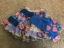 Room Seven TWIRLY Patchwork SKIRT + TIGHTS Girls 116 6 Floral Ruffle Spring BLUE