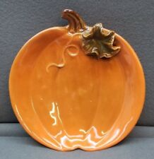 """Pair 8 1/4"""" Pumpkin Plates Tii Collections"""