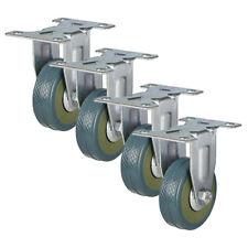 More details for 50mm castors x 4 rubber casters 50mm 4 fixed castors