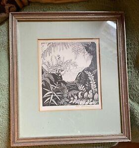 Vintage Rei Hamon Lithograph Print Botanical Signed