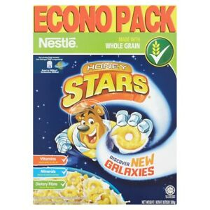 Nestle Honey Stars Honey-Coated Wheat and Corn Puffs Breakfast Cereal 500g