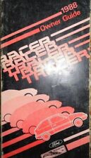 1988 Mercury Tracer Owners Manual Original