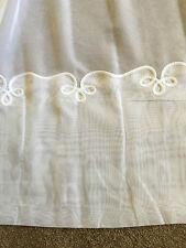 4.1 m Sheer Curtain Cornelli Base - 270 cm drop  -Magnolia- Unheaded-CLOVER