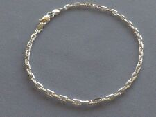 """10"""" STERLING SILVER ANCHOR MARINA ANKLE BRACELET- 3mm- ITALY 925"""