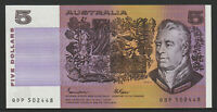 Johnston / Fraser  1985 : General prefix OCRB serials Five Dollar Paper Note,Unc