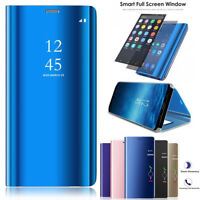 Flip Smart Leather Magnetic Mirror Case Cover For Samsung Note 9/S9/S8/A8 2018