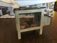 Cute Little Rabbit Hutch complete with rabbit, food, water, & rabbit droppings