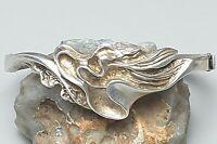 925 Silber Klapp-Armreif von Bijoux-Jeunesse punziert 80er Jahre /A254