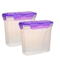 LOT Pack Cereal Keeper Dry Food Storage Dispenser Dishwasher Safe Lock Lids NEW