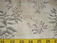 1.8 yds TEA DYE PLANTS ALL COTTON FABRIC LECIEN MRS. MARCH 2 PCS