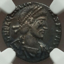 Julian II, as Augustus 360-363AD AR siliqua NGC XF Laquer-like Patina