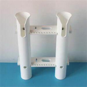 2 Link Boat Rod Holder Rack With White Plastic Fishing Rod Holder Rod Pod 2 Tube