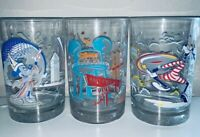 McDONALDS Disney World 100 Years of Magic 25th Anniversary Cups Glasses Set of 3
