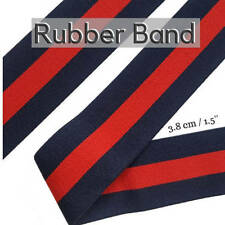 Blue Red Striped fashion Style Rubber Elastic Band Trim, Luxury Brand Elastic Ru