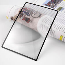 A5 Flat PVC Magnifier Sheet X3 Book Page Magnifying Reading Glass Lens 180X120mm