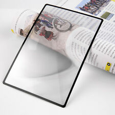 A5 Flat PVC Magnifier Sheet X3 180X120mm Book Page Magnifying Reading GlassLens&