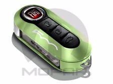NEW FIAT 500 500L GREEN PASTEL WHITE KEY FOB DECORATIVE CLIP ON COVER 68227358AA